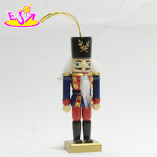 New hottest Christmas ornaments wooden nutcracker soldier for kids W02A206