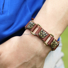 2014 Fashion transformers autobots logo men bracelet leather