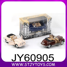 Old car kids pull back door opened toy car die-cast model car