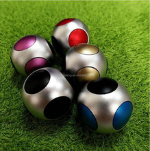 The new football hands spinner gyro aluminum alloy magic decompression artifact Metal dazzle colour spinner cube toys wholesale