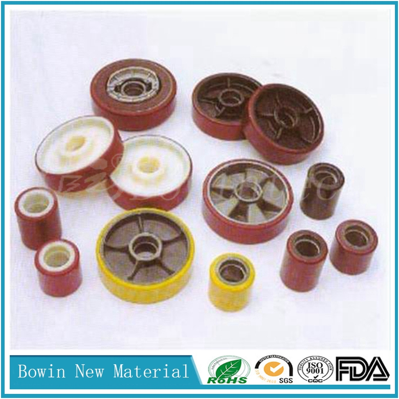 polyurethane pu coating wheel for Material Handling Equipment