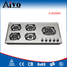 CE certificate Commercial restaurant 5 burner gas cooker with oven, built in gas hob,