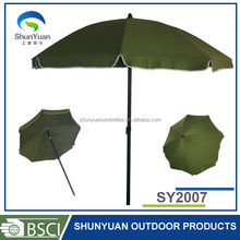 Special Plastic Tilt UV Protection Beach Umbrella for Outdoor