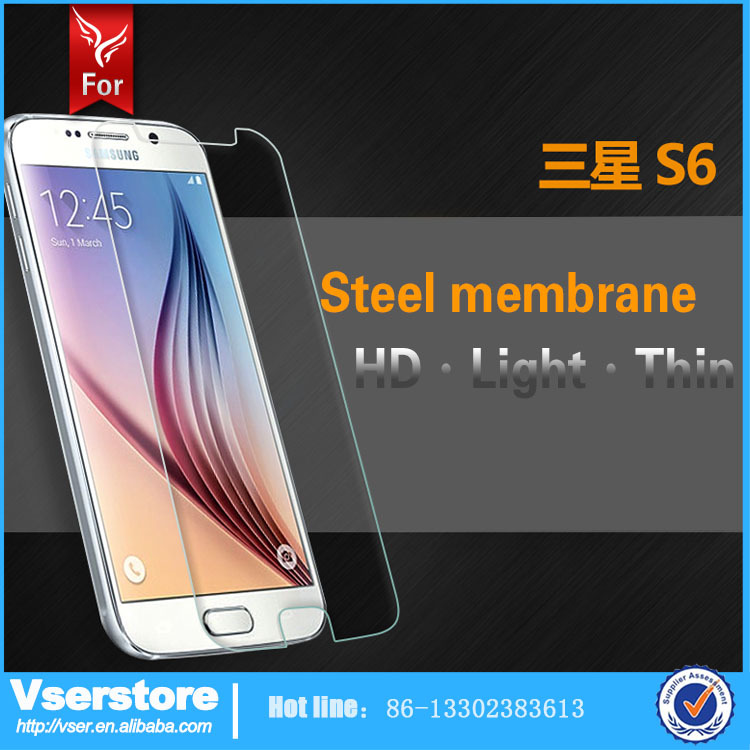 Clear Bulletproof Glass Tempered Glass Screen Protector For Mobile Phone Samsung S6