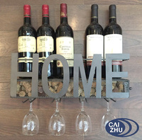 12 Bottle Wine Rack Holder Storage Shelf Sand for Metal Kitchen Decoration
