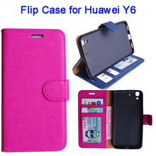 New Products 2016 Leather Cover Case for Huawei Y6, Flip Cover For Huawei Y6 Wholesale