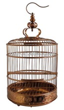 Antique Copper Color Stainless Steel Round Bird Cage