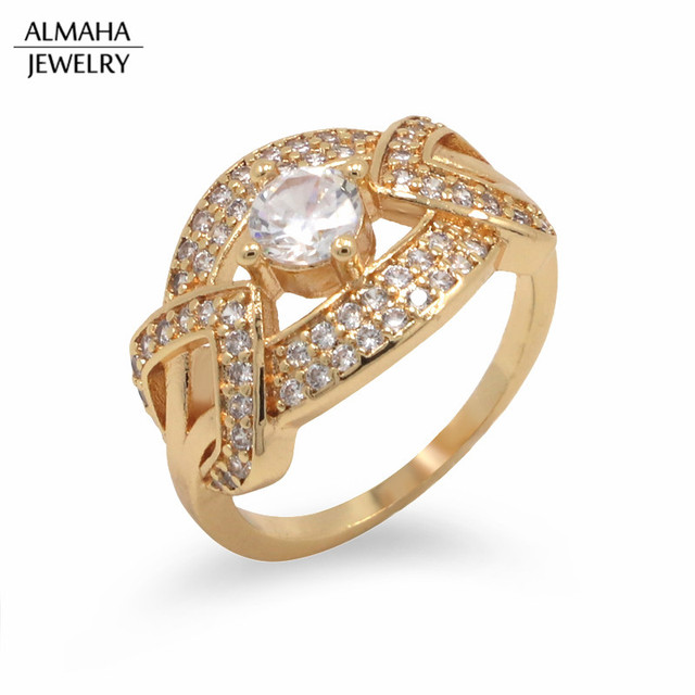hot sale amazon 18k Gold Filled Jewellery Big Stone Mens Ring