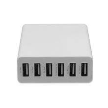 Smart 5V 10A 6 ports portable usb charger VI efficiency for all mobile phones