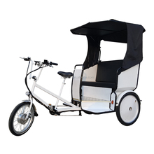 Adult Three Wheel Motorized Bicycle Rickshaws, Tour Transportation Electric Taxi Tricycle Pedicab Manufacturer