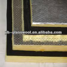 Fire resistant semi rigid glass wool insulation board with for Fireproof vapor barrier