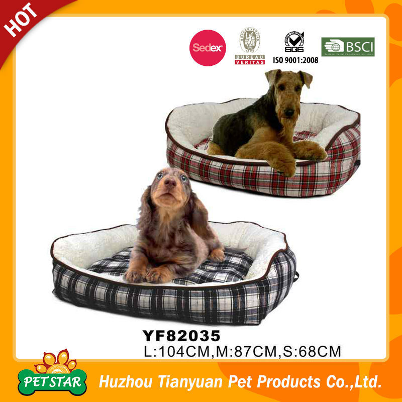 Grid Pattern Soft Pet Bed for Dog