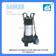high quality WQ small raw water vertical submersible motor pump for mining