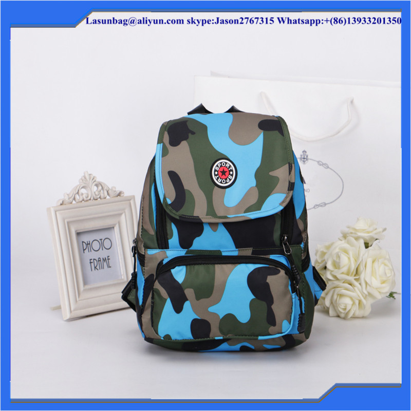 Fashion Ocean Camouflage Canvas Backpack for TEENAGE Girls School Bags