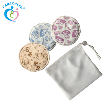 2017 New Print Design Organic Washable Reusable Minky Breast Bamboo Nursing Pads