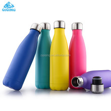 Promotional cola shaped stainless steel insulated double wall thermos bottle cola vacuum bottle YF-24-1