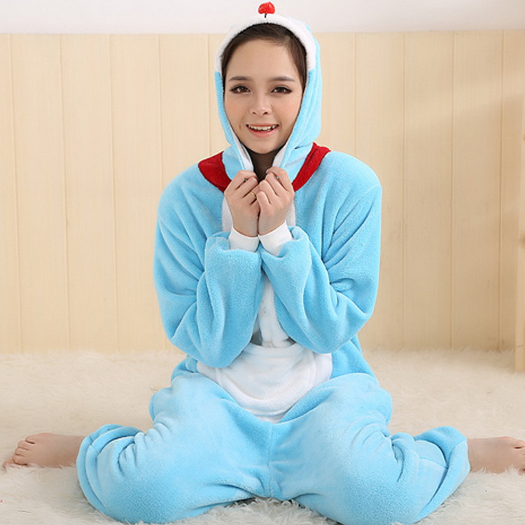 Autumn and winter tinkling cat animal cartoon warm Pajamas couple men and women home service