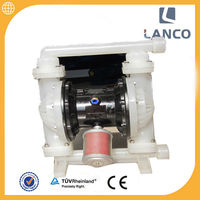 "3/4"" inch stainless steel inlet and outlet santoprene diaphragm air driven pneumatic diaphragm pump"