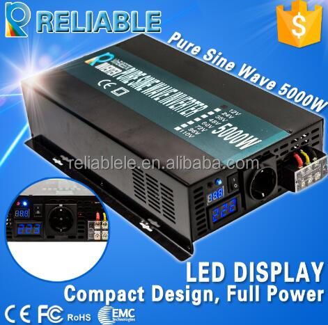 original manufacturer 5000w 12v 24v 48v dc to ac 110v 220v pure sine wave solar power inverter
