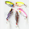 CH14LP24 metal balde spoon lures metal VIB fishing bait in bright colors fishing gear