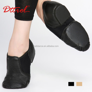 D004716 Dttrol dance genuine leather black jazz shoes