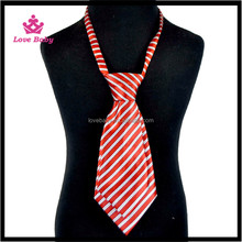 Wholesale Polyester Necktie Top Quality Baby Boys Tie Soft Fabric Adjustable Stripe Baby Necktie