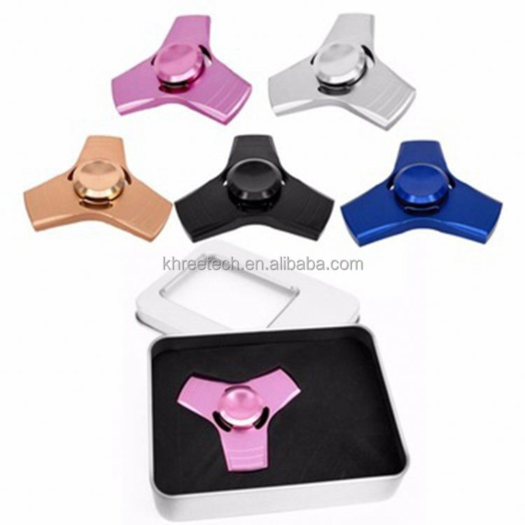 2017 New Design Fidget Toy Alloy Magic Anti Stress Cube Square Fidget Spinner wood games