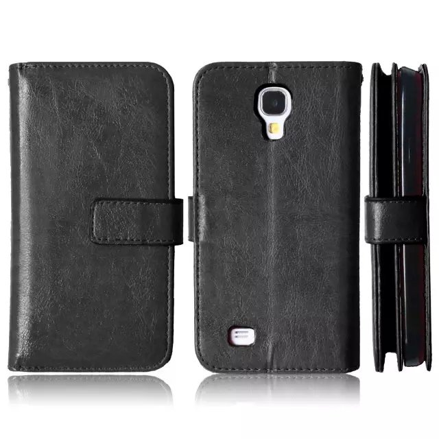 For Samsung Galaxy S4 Magnetic Flip PU Leather Wallet Case with nine Card Slots Stand fundas Mobile Phone Cover cases