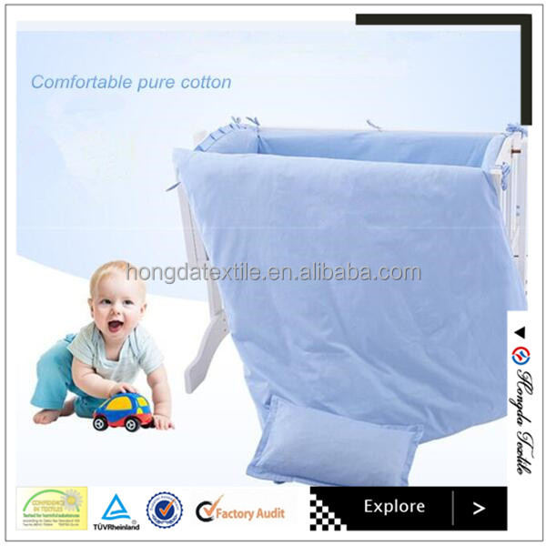Comfortable 100% pure cotton baby bedding set/kids bed sheets