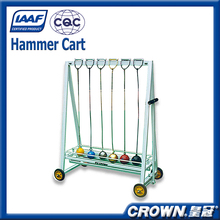 High quality athletic sports equipment factory price portable hammer throw carrying cart, hammer cart for sale