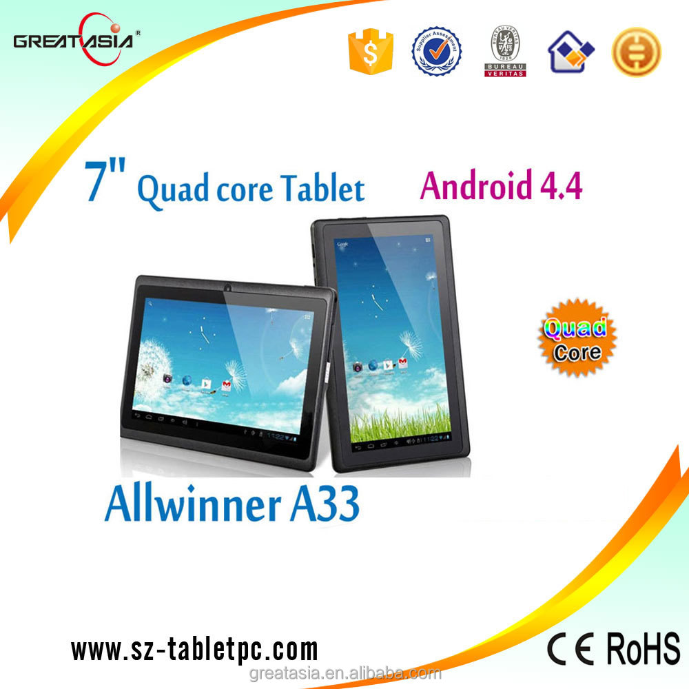 Q8 Low price 7 inch Tablet PC Android 4.4 Google A33 QUAD CORE 8GB Bluetooth WiFi Support Holster