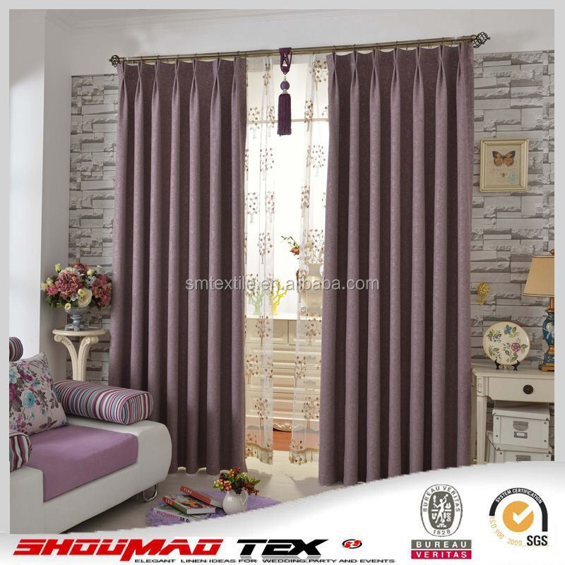 Manufacturer durable linen curtains lined