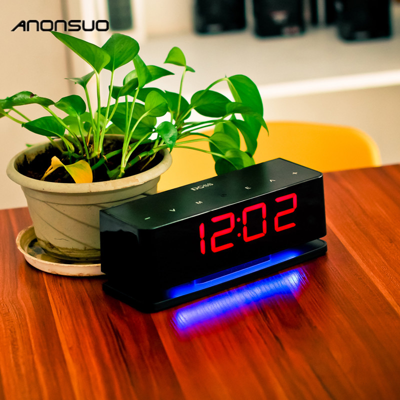 Anonsuo A1 clock alarm Bluetooth speaker with AM/ FM Radio & LCD Display