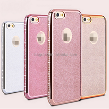 Luxury Glitter Bling Plating Diamond Soft TPU Phone Case For iphone 7 7 Plus 6 6s Plus 5s 5 SE