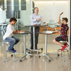 Ergonomic Kids Study Table Height Adjustable Sit to Stand Mobile Computer desk