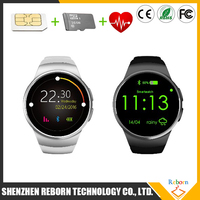 2016 top seller SIM GSM 2G smart watch mobile phone with MTK2502C KW18