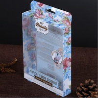 Customized Transparent Plastic PET Packaging Hanging Retail Clear Folding Box