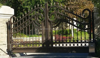 Competitive price wrought iron fence gate/cheap house fence and gates/Ornamental Wrought Iron Fence Models