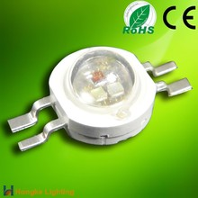 3W 4-pin RGB full color power led diode with tri-color