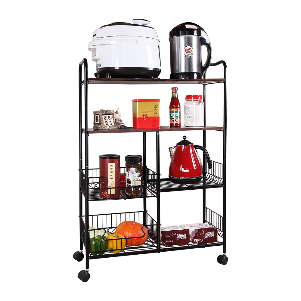 Kitchen small portable folding metal steel <strong>shelf</strong> racking