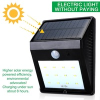 Solar Lights, spliting 12 LED Outdoor Wireless Solar Energy Powered Motion Sensor Wall Lights Waterproof for Patio, Deck, Yard,