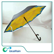 Profession high quality beautiful unique fujian upside down inverted umbrella
