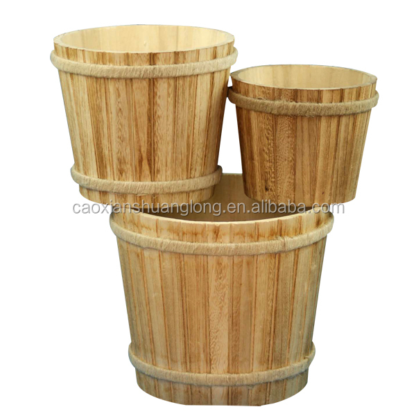 2016hot wholesale wooden buckets antique&foot massage wooden bucket&wooden buckets for sale