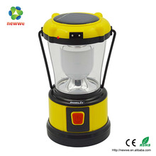 5 led rechargeable solar power camping lantern with mobile phone charger