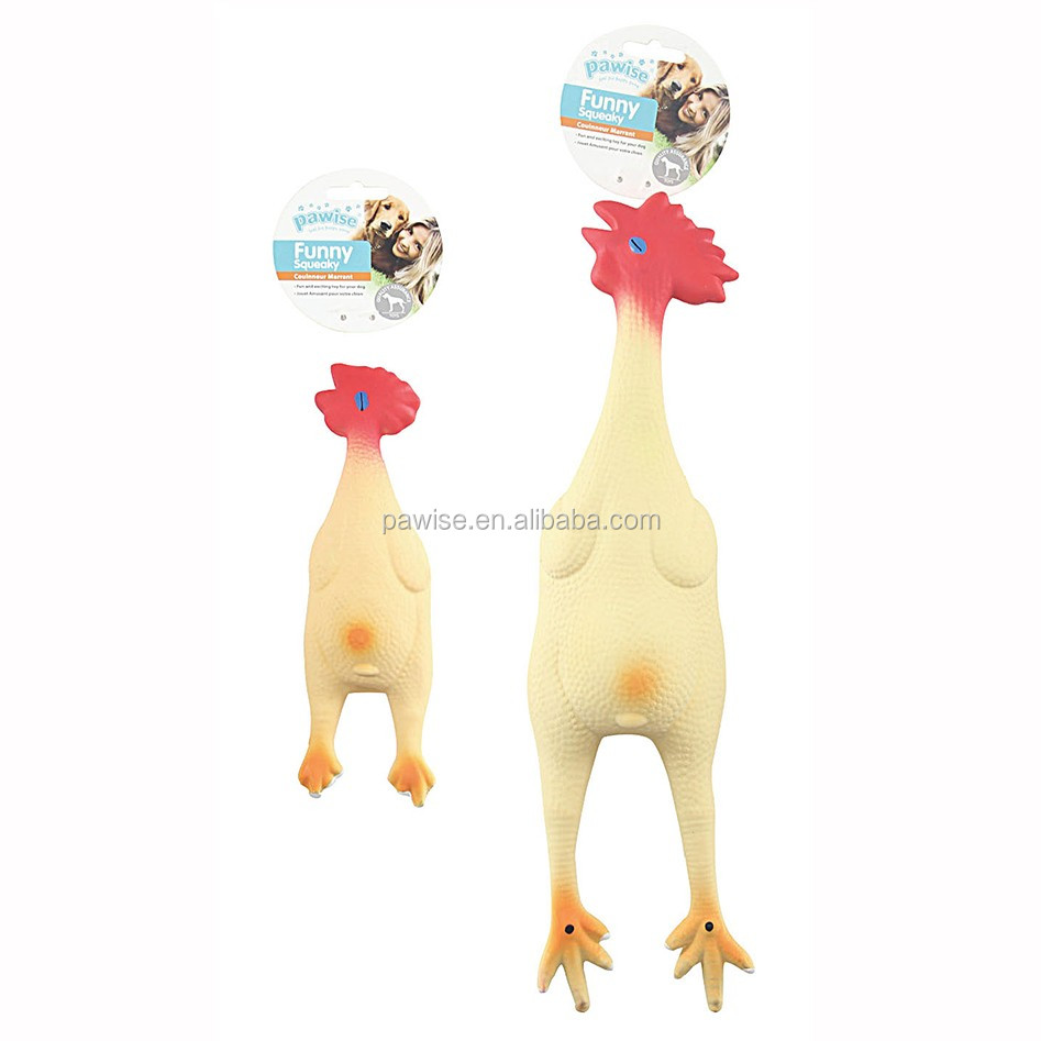 Latex Chicken squeaky dog toy