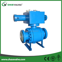 High quality 3 piece flange end trunnion mounted hydraulic ball valve from China manufacturer