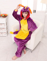 Spyro Purple Dragon Cartoon Animal Onesie Onesie Pajama Sets Adult Unisex Fashion Cosplay Women Pyjama Pajamas
