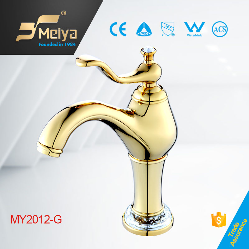 2015 Crystal Decorated Gold Bathroom Basin Faucet Coloured Bathroom Accessories