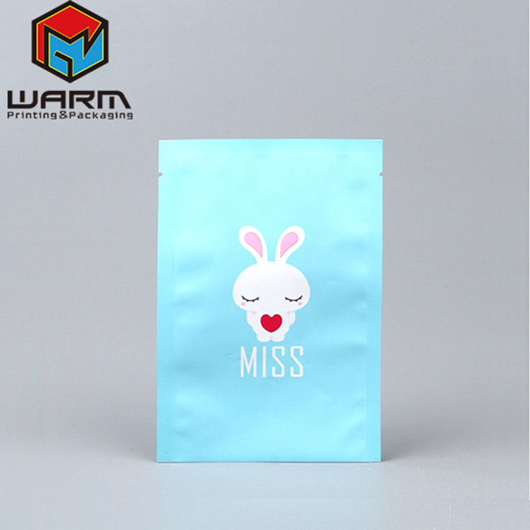 Fashionable top sell facial mask plastic bag plastic face cream packaging wholesale