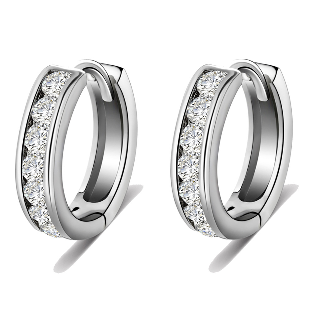2016 NEW Fashion hoop earring full CZ diamond earrings for women